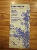 Broșură TAROM, 1985, curse interne, comunism, epoca de aur