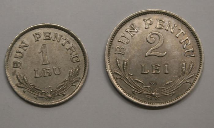 LOT 1 LEU & 2 LEI 1924 . POISSY . DETALII EXCELENTE .