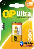 Baterie ultra alcalina GP 9V 1 buc/blister, G&P