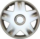 Set capace roti 14 inch tip Renault, culoare Silver 14-213
