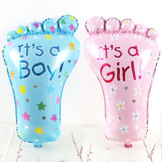 Balon folie tip Talpa Bebelus, mesaj It's a Boy It's a Girl, 43x68 cm