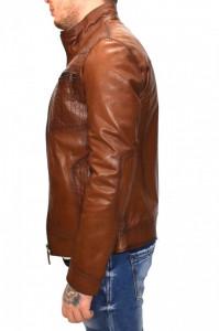 Haina barbati, din piele naturala, marca Kurban, AP-16-95, coniac , marime: L