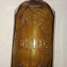 Sifon sticla galbena  de un litru