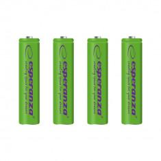Baterii reincarcabile Ni-MH AAA 1000MAH x4, Esperanza EZA102G