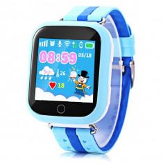 Ceas GPS Copii iUni Kid601, Telefon incorporat, Alarma SOS, 1.54 Inch, Touchscreen, Jocuri, Blue