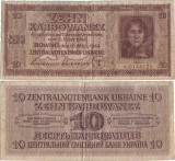 1942 (10 III), 10 Karbowanez (P-52) - Ucraina