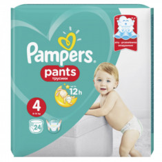 Scutece chilotel Pampers Pants Carry Pack Nr 4, 9-15 kg, 24 buc.