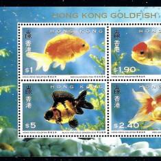 China, Hong Kong, fauna, pesti, 1993, bloc,  MNH