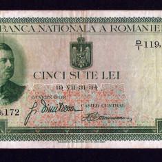 ROMANIA  500 LEI - 1934 .