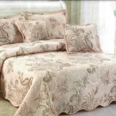 Cuvertura de pat + 4 Fete de Perna - Pat 2 Persoane - 100% Bumbac - E-S28