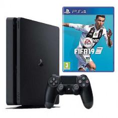 SONY PlayStation 4 Slim 1 TB, negru + FIFA 19