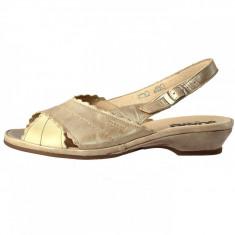 Sandale dama, din piele naturala, marca Suave, 817-3, bej , marime: 40