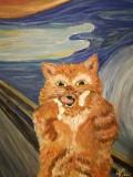 Tablou Adaptare dupa Tipatul de Edvard Munch, Animale, Acrilic, Altul