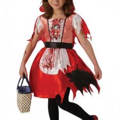Costum de carnaval Scufita Rosie infricosatoare, 5 ani+