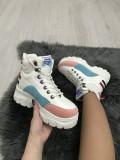 Adidasi dama albi cu platforma marime 37, 39, 40, 41+CADOU