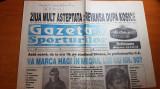 gazeta sporturilor 14 noiembrie 1994-hagi la meciul 90 pt nationala,nadia c.