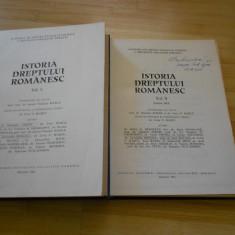 HANGA VLADIMIR-ISTORIA DREPTULUI ROMANESC - 2 VOL.(1 SI 2/1)