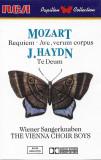 Caseta Mozart / J. Haydn - The Vienna Choir Boys – Requiem / Te Deum