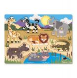 Puzzle Din Lemn Animalele Safari, Melissa & Doug