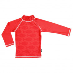 Tricou de baie Fish Red marime 110-116 protectie UV Swimpy for Your BabyKids