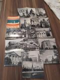 SET 16 MINI VEDERI/CARTI POSTALE URSS ALB-NEGRU ANII 60