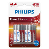 Cumpara ieftin Set baterii Power Alkaline Philips, 6 x LR6 AA, 1.5 V