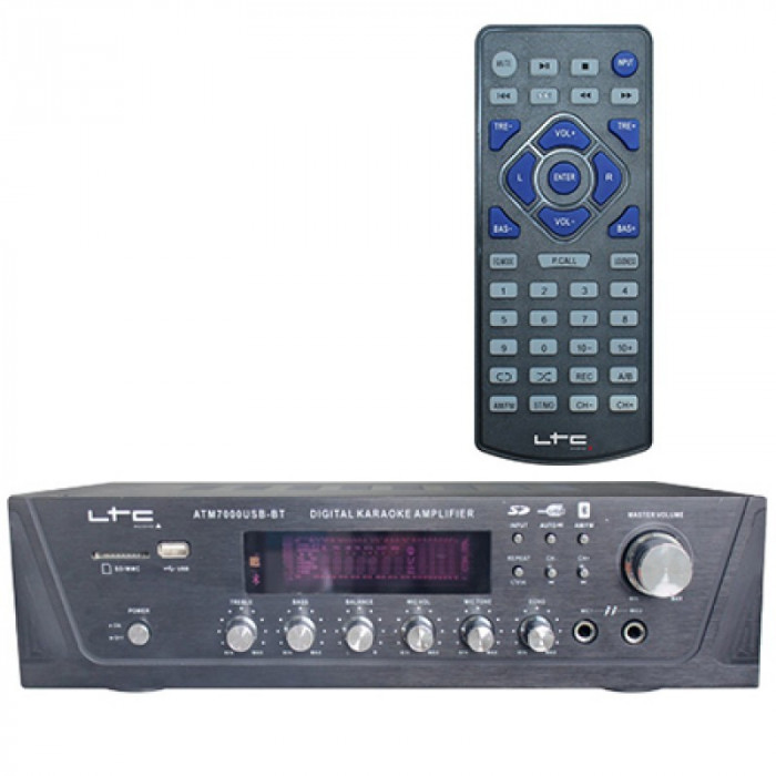 Amplificator karaoke digital, USB, Tuner, Bluetooth, 2 x 50 W