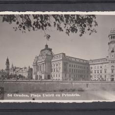 ORADEA PIATA UNIRII  CU PRIMARIA   PRIMARIA  FOTOFILM  CLUJ  CIRCULATA 1940