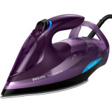 Fier de calcat Azur Advanced GC4934/30, 3000 W, talpa SteamGlide Plus, tehnologie OptimalTEMP, 55 g/min, detartrare rapida, mov