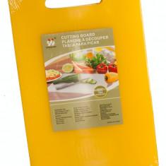Tocator profesional bucatarie polietilena 46x30x1,2cm culoare galbena MN0198483 Raki
