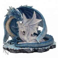 Statuetă dragon cu pui Iubire de mamă