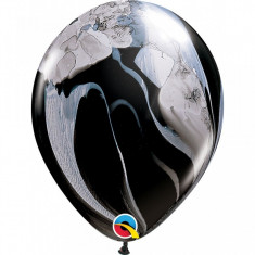 Baloane colorate SuperAgate Black White 28 cm set 5 buc