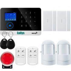 Sistem de alarma GSM pentru casa / magazin cu modul GSM / LCD / RFID, Wireless