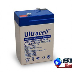 Acumulator plumb acid Ultracell 6V 4,5Ah