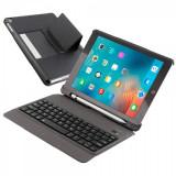 Husa carcasa cu tastatura detasabila Bluetooth Wireless pentru iPad Air / iPad Air 2 / Ipad Pro 9.7 / iPad 9.7 2017 / 2018, negru