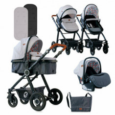 Carucior Set, Alexa, cos auto inclus, Light Grey