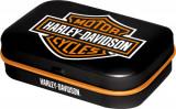 Cutie metalica cu bomboane - Harley Davidson Logo