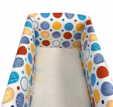Cumpara ieftin Lenjeria de patut bebelusi 120x60 cm cu aparatori Maxi Deseda Cerculete albastre