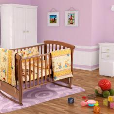 Set pentru patut bebe, cu aparatori, model Honey 60x120 Relax KipRoom
