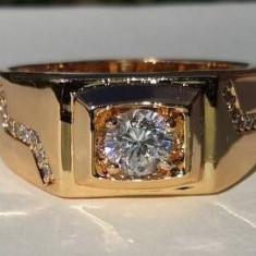 Inel Unisex Luxury Brilliant,dublu placat aur 18K,marimi 8US