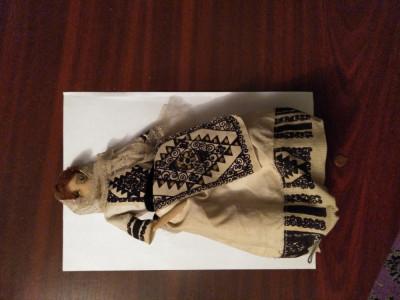 CY - Papusa veche port popular imbracaminte pusa pe schelet metalic foto
