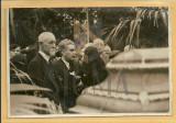 IOSIF BERMAN - FOTO , MARESALUL AVERESCU LA INHUMAREA PROF. CEZAR PAPACOSTEA
