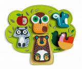 Puzzle din lemn cu animale Oski