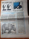 """ziarul  """"22 """" din 22 iunie 1990-articol si foto mineriada"""