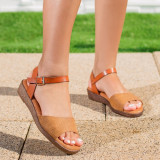 Sandale cu talpa ortopedica dama camel Reslia