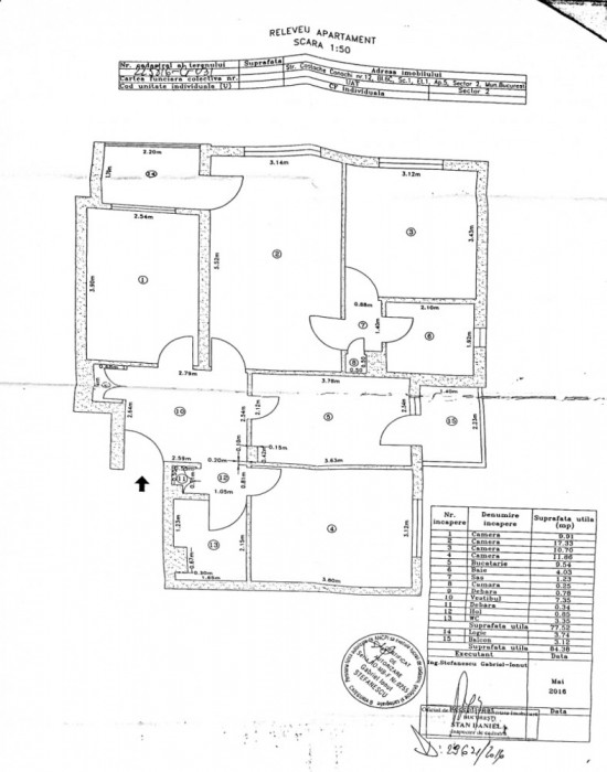 Apartament 4 camere Pantelimon-Baicului