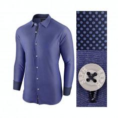 Camasa pentru barbati, bleumarin, bumbac, regular fit - Business Class Ultra, L, M, S, XL, XXL, Maneca lunga
