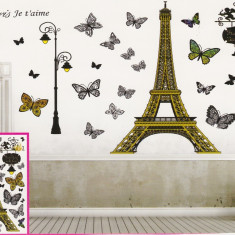Sticker decorativ 5D Je T'aime + Cadou set Stiker fosforescente