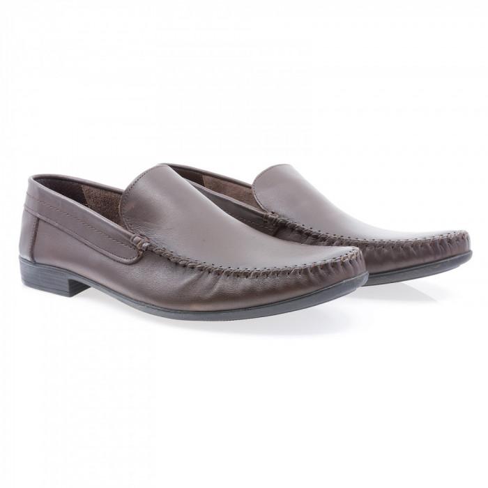 Pantofi barbati Caspian din piele naturala Cas-660-KAH