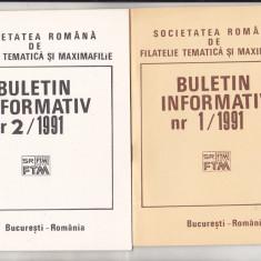 bnk fil Soc. romana de filatelie tematica si maximafilie - buletine info 1991
